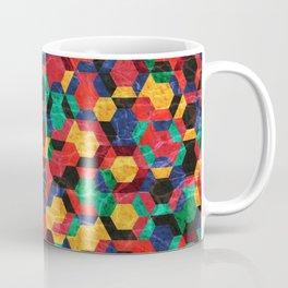 Colorful Half Hexagons Pattern #03 Coffee Mug