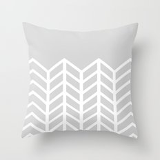 LACE CHEVRON (GRAY) Throw Pillow