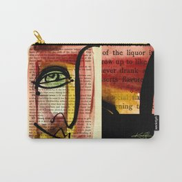 """Funky Face Abstract, """"I See 35"""" by Kathy morton Stanion Carry-All Pouch"""