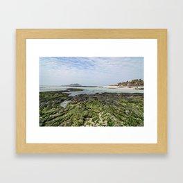 금능해수장 Geumneung Eutteumwon Beach Framed Art Print