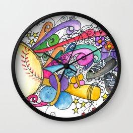 muticolo Baseball Wall Clock