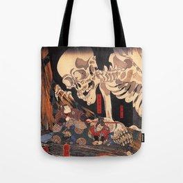 Takiyasha the Witch and the Skeleton Spectre, by Utagawa Kuniyoshi Tote Bag