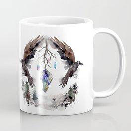 Black Ravens In The Crystal Woods Coffee Mug