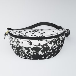 Birds in flight. Allegory of day and night Fanny Pack