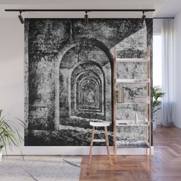 Monochrome Arches Wall Mural