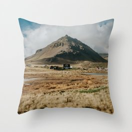 Mt. Stapafell, Snæfellsnes - Landscape Photography Throw Pillow