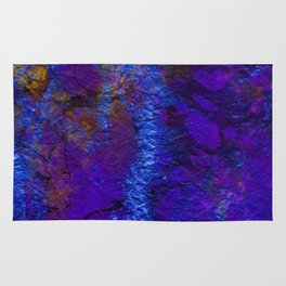 Purple Blue abstract marble Rug