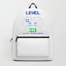 Gamer Birthday T-shirt Level 23 Gamer Gift Backpack