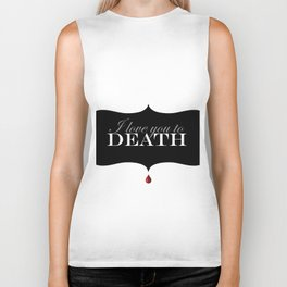 """I love you to DEATH"" Biker Tank"