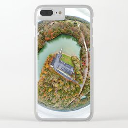Belews Lake Tiny Planet Clear iPhone Case