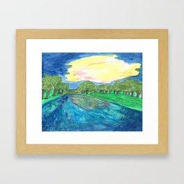Sunset Over the Blanco Framed Art Print