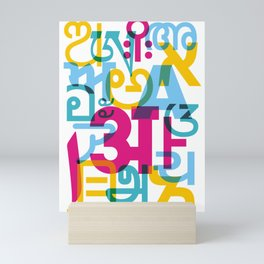 A in Scripts Around the World Mini Art Print