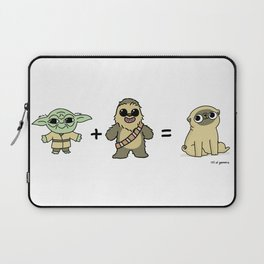 The origin of pugs Laptop Sleeve