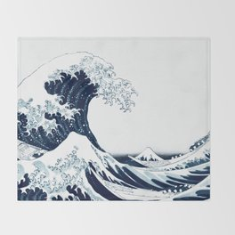 The Great Wave - Halftone Throw Blanket