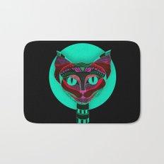 Black CAT- Black Bath Mat