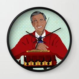 Mr Rogers Wall Clock