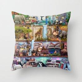 The Amazing Animal Kingdom Throw Pillow