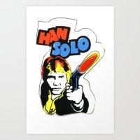 han solo Art Prints featuring Han Solo by Popp Art