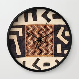 Kuba Congo Central African Wraparound Skirt Print 2 Wall Clock