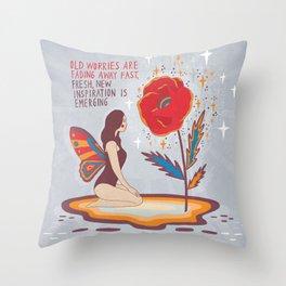 New inspiration emerging Throw Pillow