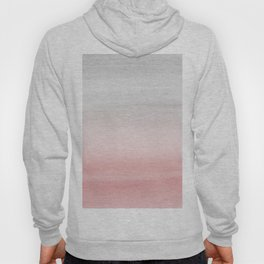 Touching Blush Gray Watercolor Abstract #1 #painting #decor #art #society6 Hoody