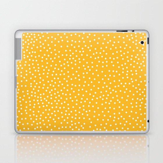 YELLOW DOTS Laptop & iPad Skin