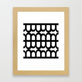B Pattern Framed Art Print
