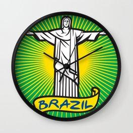 Christ the Redeemer statue in Rio de Janeiro, Brazil Wall Clock