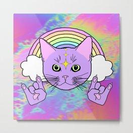 Hardcore Kitty Metal Print