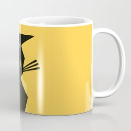 Art Deco Vintage Black Cat Coffee Mug