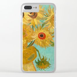 Van Gogh - Sunflowers - Vase with Twelve Sunflowers Clear iPhone Case