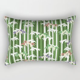 Vintage oriental Bamboo pattern Rectangular Pillow