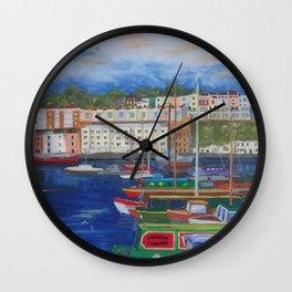 Bristol Marina in Late Afternoon Wall Clock