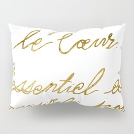 The Little Prince Quote 002, gold Pillow Sham