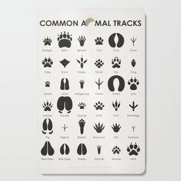 Common Animal Tracks Cutting Board