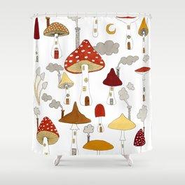 mushroom homes Shower Curtain