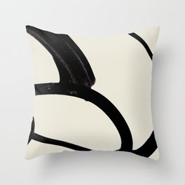 Mono Brush 1 Throw Pillow