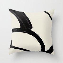 Mono Brush 1 Throw Pillow