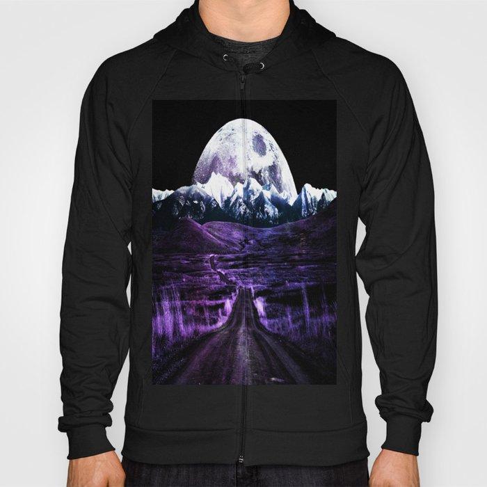 Highway to Eternity (moon mountain) violet Hoody