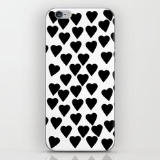 Hearts Black and White iPhone & iPod Skin