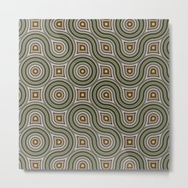 Round Truchets in CMR 01 Metal Print