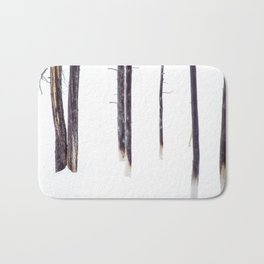 Bare Trees in Winter Bath Mat
