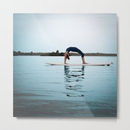 SUP Yoga Metal Print
