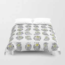 Sleepy Owls Duvet Cover