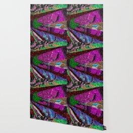 Peacock Mermaid Lavender Abstract Geometric Wallpaper
