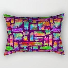 Rainbow Colorful Brush Rectangular Pillow