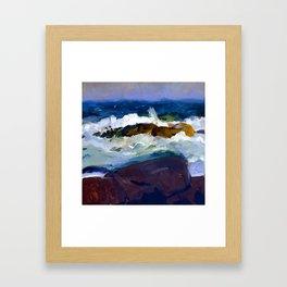 George Bellows Rock Reef in Maine Framed Art Print