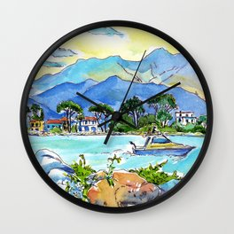 On the banks of the Magra River Wall Clock