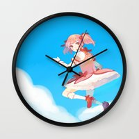 madoka Wall Clocks featuring Madoka by Homicon
