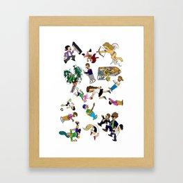 2014 Cartoons 1 Framed Art Print